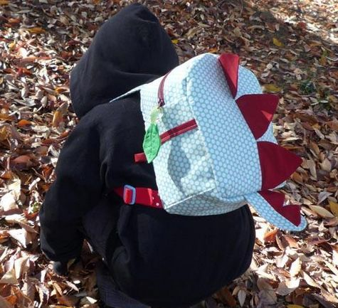 Kids' Stegasaurus Backpack  Sewing Pattern by jojoebi designs  + Free Bonus Lunchbag Sewing Tutorial