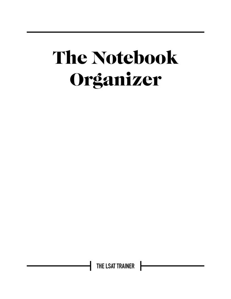 21 best the new lsat trainer website images on pinterest law this nifty and free lsat notebook organizer helps you keep track of the work youve done the problems to return to and the issues yet to master malvernweather Images
