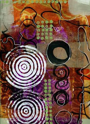 collage journeys: Scribble Painting by Jane Davies