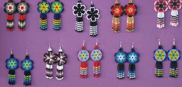 ojibwe beadwork patterns   beaded-earrings