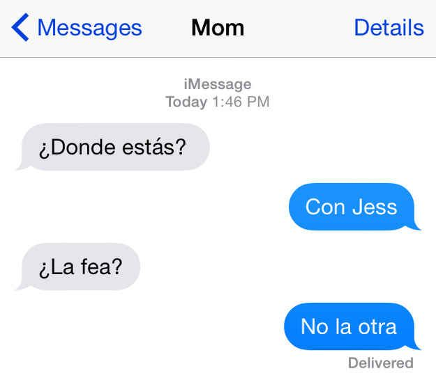 Texts from your Latina mom