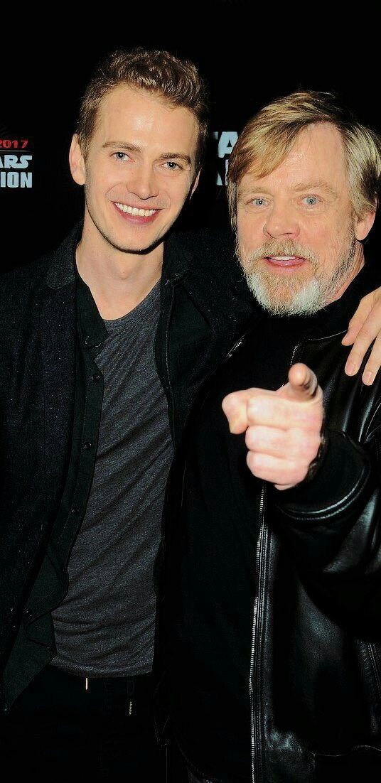 Father and son. // Star Wars Celebration Orlando 2017 << This father-son photo makes me so happy!  They are both so beautiful. ☺️