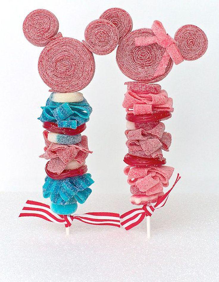 Brochettes de bonbons Minnie - 10 brochettes de bonbons à croquer - Elle à Table