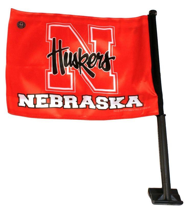 Nebraska Cornhuskers Car Flag - Script Logo - Rico