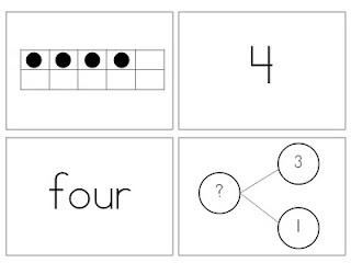 really good flashcards using Singapore Math Strategies