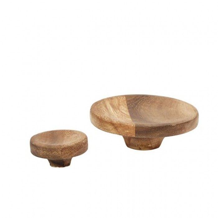 Hubsch set van 2 houten wandhaken 388013