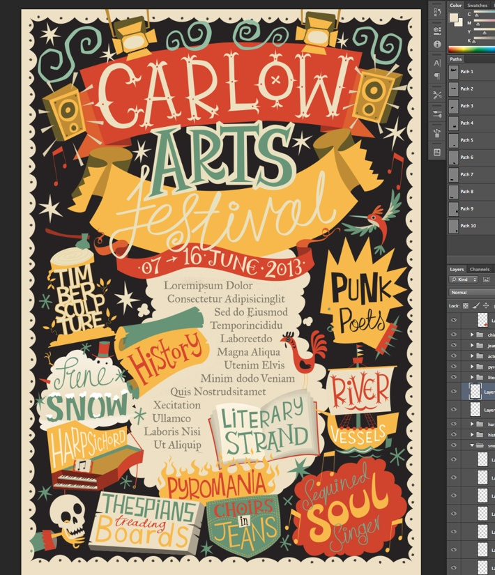 Arts Festival #Poster by Steve Simpson, via Behance