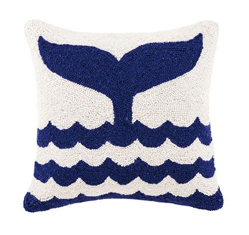 Whale Tail Hook Pillow