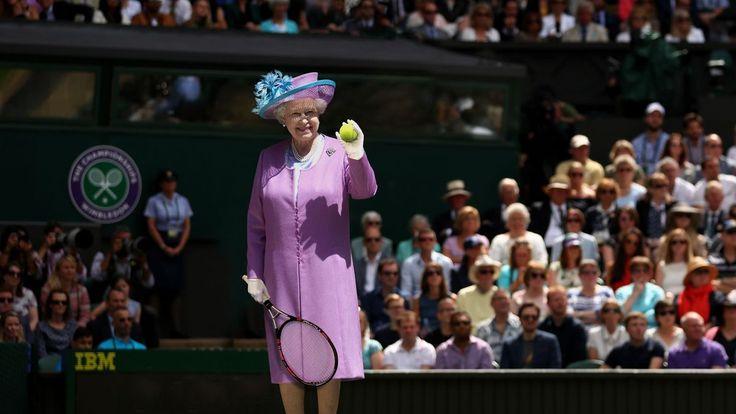 Queen Elizabeth Kicks Off Wimbledon By Serving Ceremonial First Ace Of Tournament