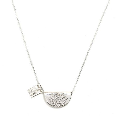 Silver Lotus and Little Buddha Necklace http://bycharlotte.com.au/collections/lotus/products/silver-lotus-and-little-buddha-necklace