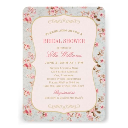 Bridal Shower Invitation | Vintage Garden Party. $2.10