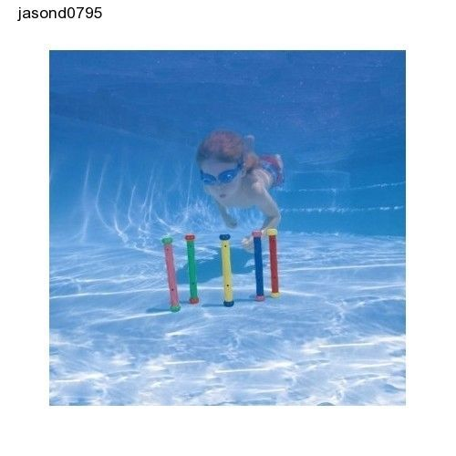 Swimming Pool Toys Underwater Play Sticks Kids Fun Water Diving Game Swim Colour