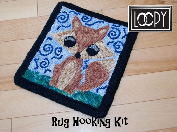 Whimsical Fox Rug Hooking Kit by LoopyWoolSupply on Etsy
