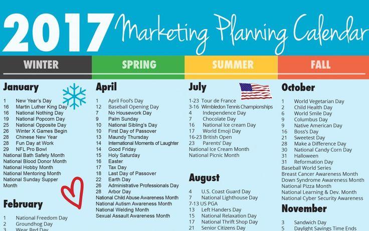 38 best Marketing Calendar images on Pinterest Marketing calendar