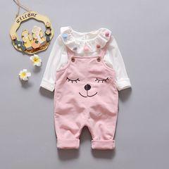 Девочек осень 2016 новый ребенок ребенок два-шт нагрудник комплект женщины ребенок весенний и осенний костюм 1-2-3-4-летний