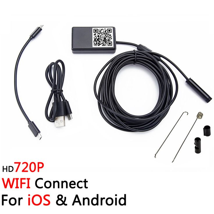 iOS & Android Wireless Mini 720P 6LED Tube Endoscope Camera Waterproof IP66 Wifi Borescope for Smart Phone Tablet iPhone