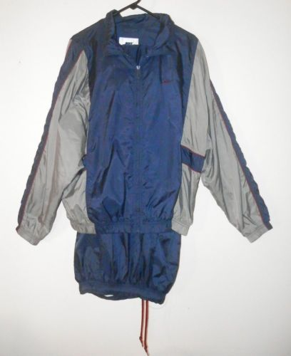 Nike-Basketball-Suit-For-Mens-Jacket-and-Pants-Blue-and-Gray-Size-L