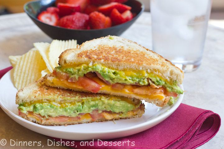 Bacon Avocado Grilled Cheese #SundaySupper | Dinners, Dishes and Desserts