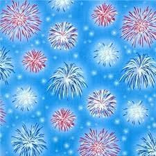 A Nation's Song - Blue with Fireworks - Quilting Treasures