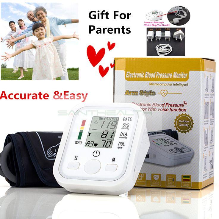 Digital Lengan Atas Tekanan Darah Pulse Monitor bp Monitor Tekanan Darah meter sphygmomanometer tonometer Portabel perawatan kesehatan