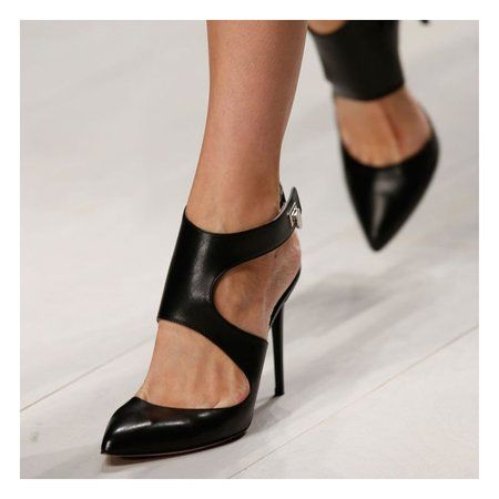 Black Stiletto Heel Summer Hollow-out Sandals