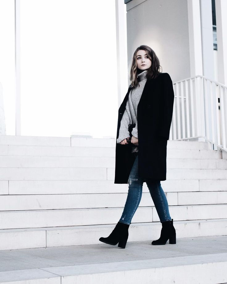 Outfit: Tom Tailor Mantel, Edited Oversized Pullover, Zara Bag & Ankleboots (LITTLE EMMA)
