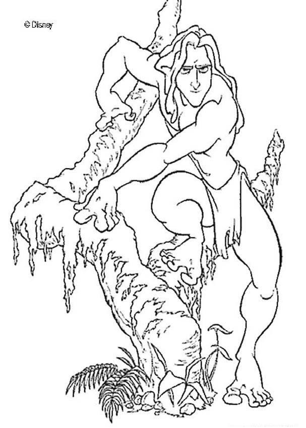 un joli coloriage sur tarzan un dessin parfait qui plaira tous les enfants fans - Coloriage Tarzan 3