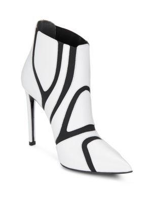 BALENCIAGA Cutout Leather Booties. #balenciaga #shoes #boots