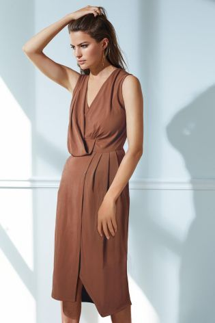 Buy Drape Front Dress from the Next UK online shop