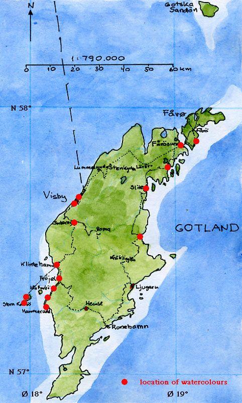 Best Gotland Images On Pinterest Sweden Travel And Th Century - Sweden map gotland
