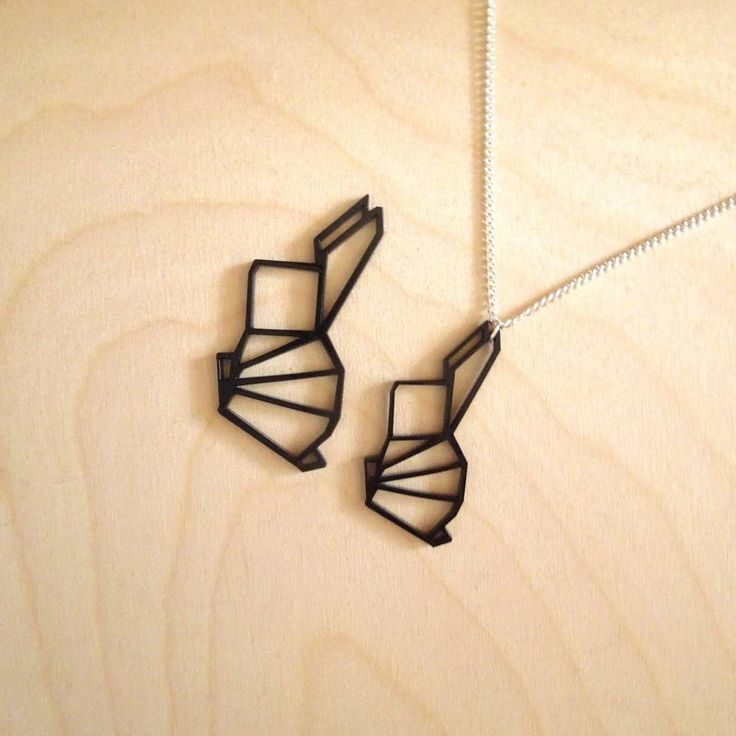Origami Mini Geometric Bunny Rabbit Necklace | Rabbits ...