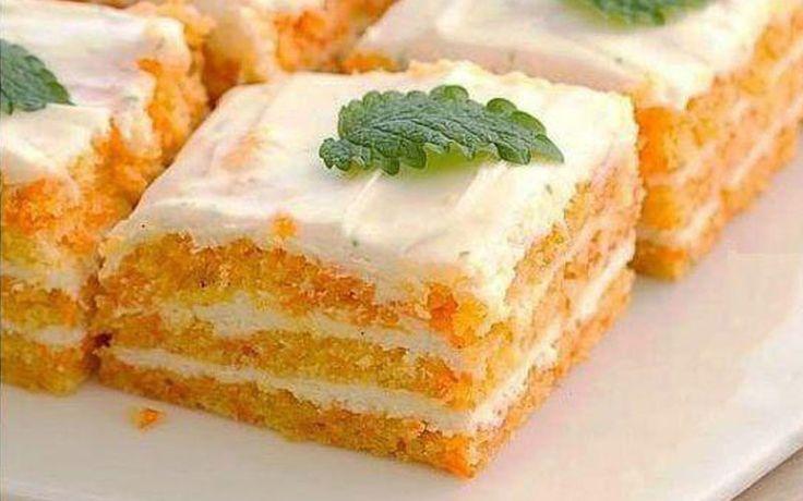 Ингредиенты Для коржа: — морковь — 250 г — овсяная мука (молотые хлопья) — 8 ст. л. — яичный