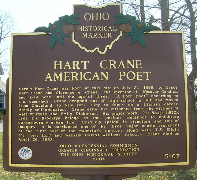 the life and poetry of hart crane Reading the bridge by hart crane is an exploration into the love for the literature of realism and modernism poets and poems: hart crane, the bridge and me who bring poetry for life to students, teachers, librarians, businesses.