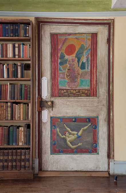 Clive Bell's Study door  photo by Penelope Fewster Forever associated with a few streets in central London, The Bloomsbury Group also had a country house. Charleston in East Sussex was the home of key group members Vanessa Bell and Duncan Grant, and from 1916 onwards it was used as a creative refuge for their friends and extended artistic circle.