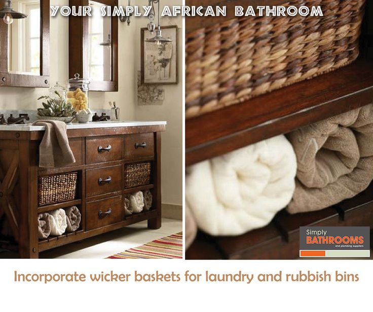 From the passage to the veld! Here's how to get your dream African bathroom… #BathroomDecor #HomeImprovements