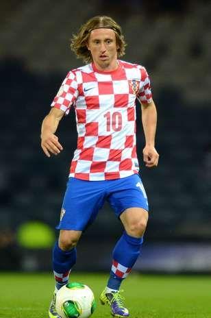 Luca Modric con la maglia della sua nazionale(Croazia)