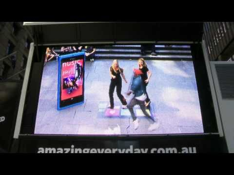 Nokia Lumia Augmented Reality Angry Birds with Timomatic Dance Off