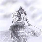 Pencil Drawings of Mermaids