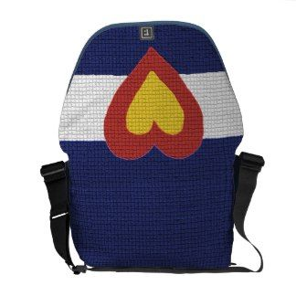 I heart Colorado Flag, Messenger Bag
