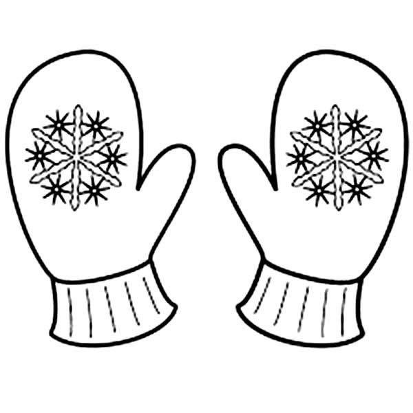 Cute Mitten Coloring Page Snowflake coloring pages