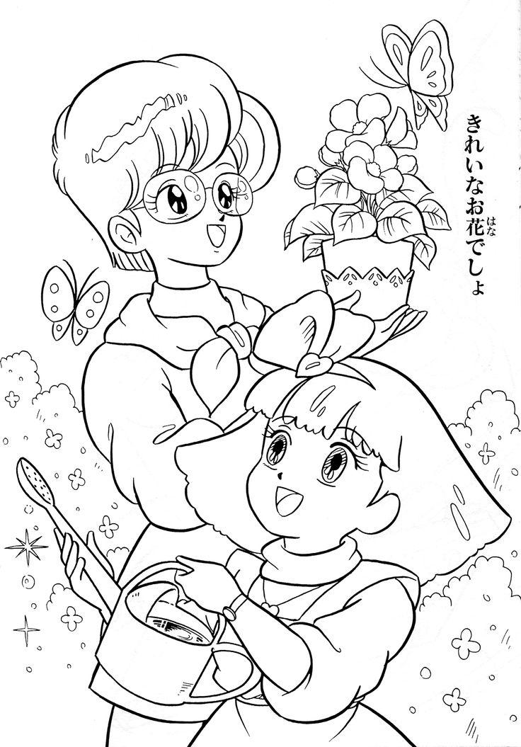 25 best coloriage gigi images on Pinterest Coloring books - best of coloring pages anime girl