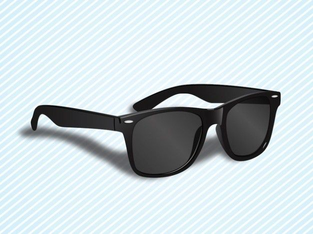 Wayfarers glasses ray ban vector