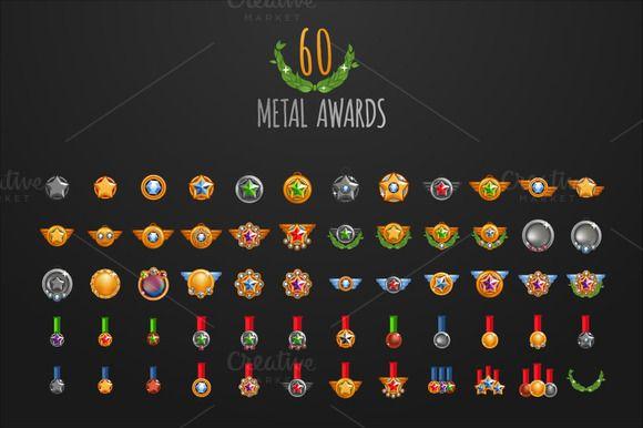 60 x Metal Awards by Beatriz Gascón on Creative Market
