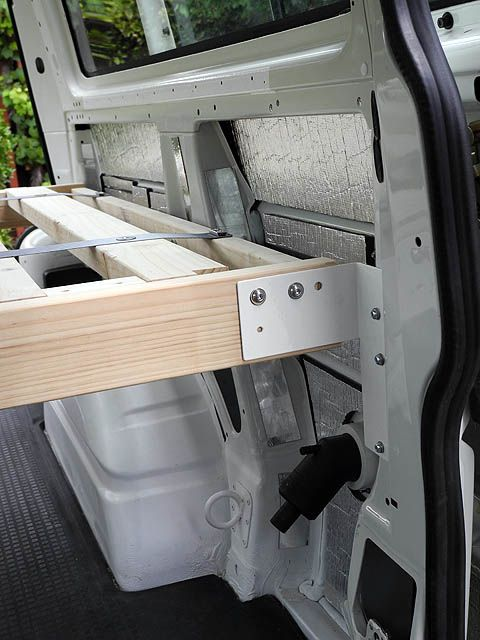 Attaching Bed Frame To Van Walls