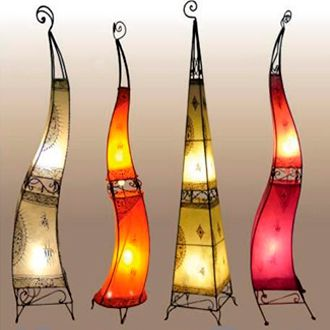 Received a very similar lamp like this years ago from a friend of Cliff's. LOVE IT! (tan one to left)