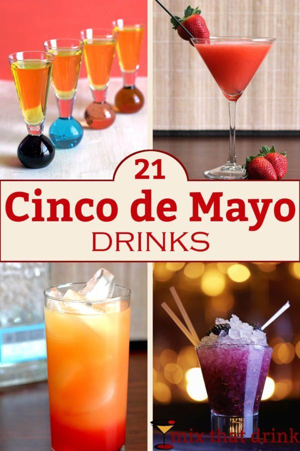 Looking for something other than margaritas for your Cinco de Mayo drinks? Here are 21 possibilities, from beer to fruity to chocolate. Sangrias, classic cocktails, and even a couple of non-alcoholic drinks.