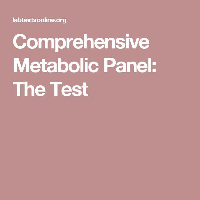 Comprehensive Metabolic Panel: The Test