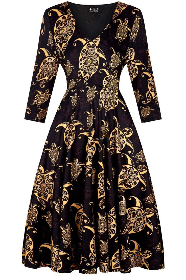 damask print fifi dress