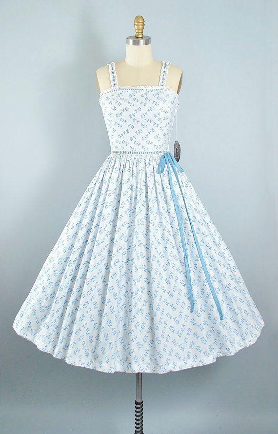 Vintage 50s Dress / 1950s Cotton Sundress by GeronimoVintage