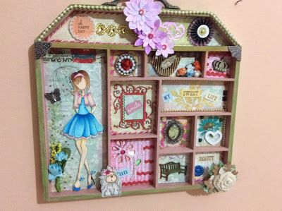 Flores, Fitas e Fricotes: scrap decor